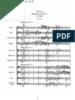 Beethoven 2da Sinfonía Score