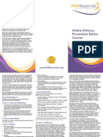 PARfessionals' Prevention Ethics Brochure