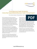 PARfessionals Rural Behavioral Health Scholarship