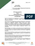 Reglamento Estudiantil EAN