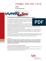 Projektausschreibung Die.donau.macht 2020