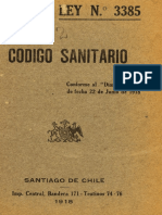 Codigo Sanitario 1918