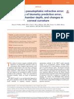 Predicting Pseudophakic Refractive Error