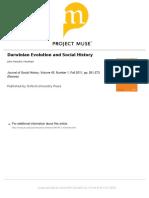 Darwinian Evolution and Social History - Journal of Social History - 2011