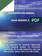 Definicion de Administracion 2017