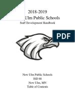 new ulm public schools staff development handbook