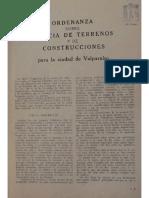 Ordenanza Policía de Terrenos y Construcciones