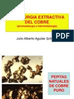 METALÚRGIA EXTRACTIVA DEL COBRE (Pirometalúrgia e Hidrometalúrgia) Julio Alberto Aguilar Schafer