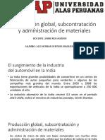 Producción Global, Subcontratación y Administración de Materiales