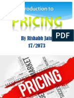 Marketing; Pricing
