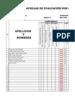 REGISTRO-NOTAS-INGLES 3° PRIMARIA