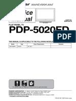 Pioneer Pdp-5020fd Sm