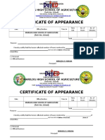 Certificate of Appearance for Teachers in Marilog