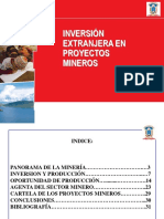 INVERSIÓN EN PROYECTOS MINEROS