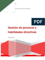 Gestion Personal y Habilidades Directivas