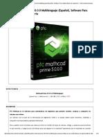 PTC Mathcad Prime v5.0.0.0 Multilenguaje (Español)