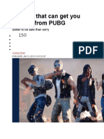 0 Things That Can Get You Banned From PUBG