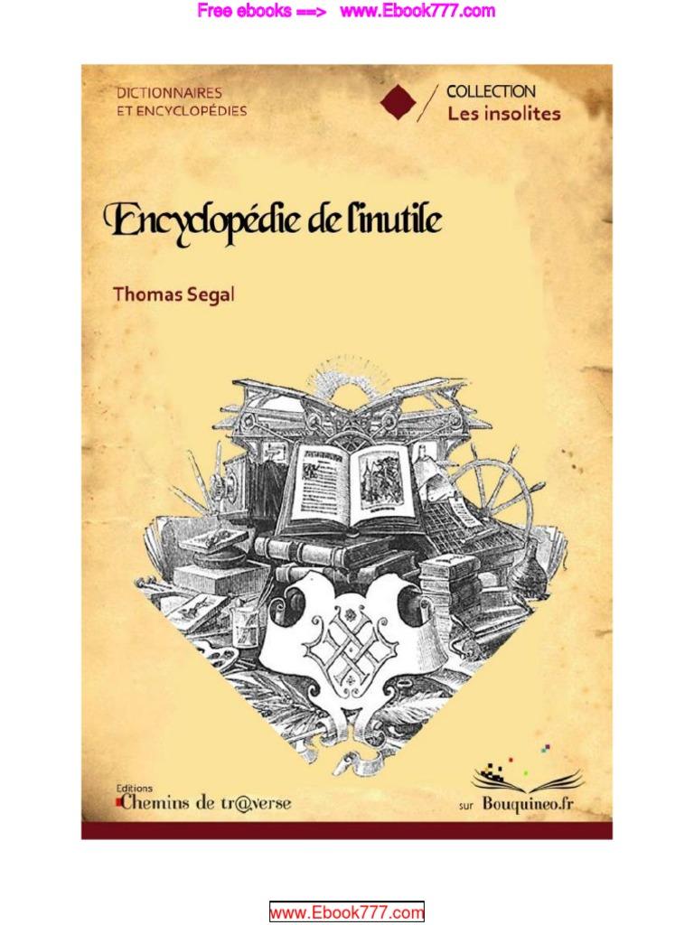 L'Encyclopédie de l'Inutile Thomas Segal | Sherlock Holmes