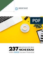 DropShipLifestyle.com 237 Niche Ideas