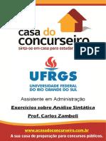 Exercicios Analise Sintatica Ufrgs Portugues Carlos Zambeli
