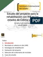 11 Plc Estudio Del Proyecto Mediante La Rehabilitacion Hir en Los Estados de Colima y Jalisco