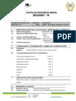 Hoja de Seguridad Biosanit-w