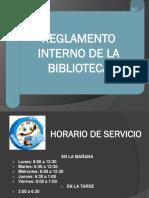 REGLAMENTO BIBLIOTECA