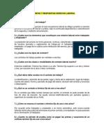 Preguntas Frecuentes Derecho Laboral, Seguridad social y Procesal Laboral en Colombia