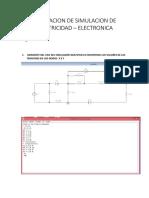 Evluacion de Simulacion de Electricidad1