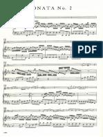 Bach Eb Major Flute Sonata Piano Part