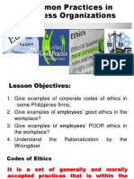 01.4.5 Common Practices in Business Organizations
