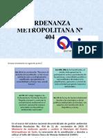 Ordenanza Metropolitana Nº 404