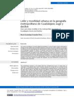 2017 - Uber y Movilidad Urbana en La Geografía Metropolitana de Guadalajara - Gonzalez Perez