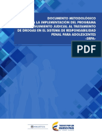 Documento Metodologico Implementacion Programa Seguimiento Judicial Tratamiento Drogas Sistema Responsabilidad Penal Adolescentes