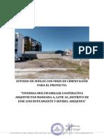 Estudio de Suelos Jose Luis Bustamante Coop. Arquitectos
