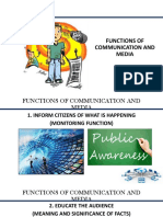 Functions of Communication and Media, Issues in Philippine Media (1)