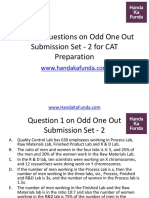 Practice Questions on Odd One Out Submission Set 2 for CAT Preparation (1)