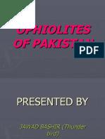 Ophiolites of Pakistan