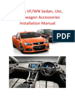 Holden VF,WN Accessories Installation Manual