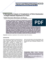 A Retrospective Analysis of Complications of Pelvic Exenteration - A Single Institution Experience of 6 Years