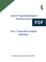 Cap IV Tema i Conceptos Basicos de Vigilancia Epidemiologica