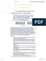 Why Must Jesus Christ Be the Creator of the Universe.pdf