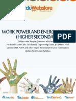 Work Power & Energy