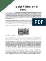 Inicios Del Fútbol en El Perú
