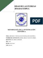 Métodos y Técnicas de Investigación Científica