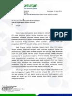 Surat HUT Untuk FKTP
