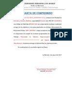 Carta de Compromiso de Los Integrantes