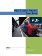 3918561 Project Status Report Template