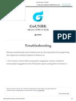Troubleshooting – GoUNBK