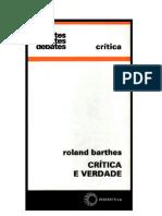 BARTHES, Roland - Uma Conclusão Sobre Robbe-Grillet
